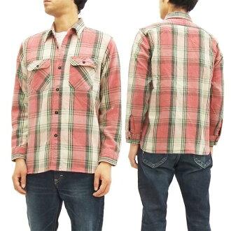 shugakenwakushatsu SC27118H人检查法兰绒衬衫长袖子衬衫#165红新货