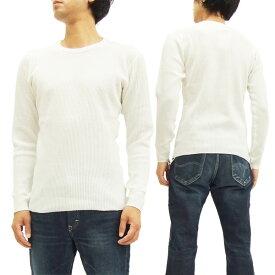 バーンズ アウトフィッターズ ワッフル長袖Tシャツ BR-3050 Barns Outfitters 無地 サーマル メンズ ロンtee #12オフ白 新品