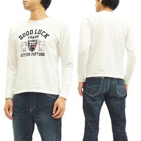 サムライジーンズ 長袖Tシャツ SCLT16-101 サムライ倶楽部 メンズ ロンtee オフ白 新品