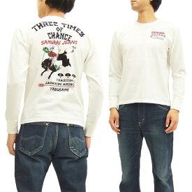 サムライジーンズ 長袖Tシャツ SJSLT16-102 流鏑馬 メンズ ロンtee オフ白 新品