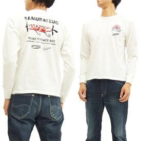 サムライジーンズ 長袖Tシャツ SULT16-101 サムライ魚釣倶楽部 メンズ ロンtee オフ白 新品