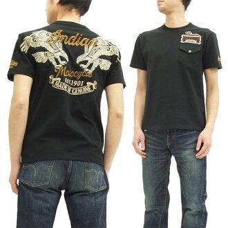 Indian Motocycle T-shirt IMST-704 Thunderbird Men's Short Sleeve Tee Black