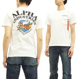 アルファ Tシャツ TC1149 フライングタイガー ALPHA メンズ 半袖Tee TC1149-018 ホワイト 新品