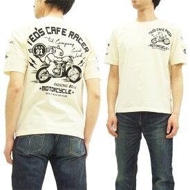 テッドマン Tシャツ TDSS-468 カフェレーサー TEDMAN エフ商会 メンズ 半袖tee オフ白 新品