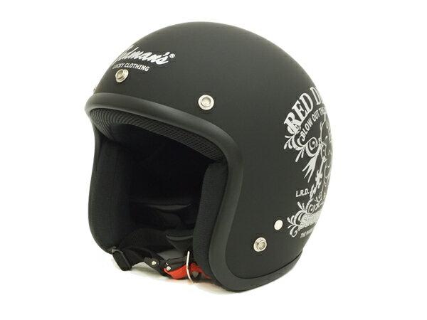 テッドマン ヘルメット TMH-14 TEDMAN エフ商会 メンズ ジェットヘルメット ブラック(ツヤなし) 新品