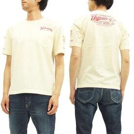 テッドマン 3ポケット Tシャツ TDSS-470 TEDMAN エフ商会 メンズ 半袖tee オフ白×レッド 新品