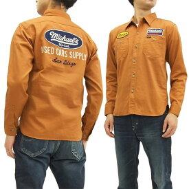 フェローズ カスタム ワークシャツ 17W-730WS-P Pherrow's MICHAELS メンズ 長袖シャツ レッドブラウン 新品