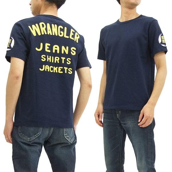 ラングラー ブルーベル Tシャツ WT5018 Wrangler チャンピオンジャケットスタイル メンズ 半袖Tee ネイビー 新品