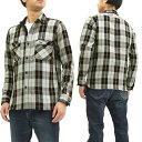 サムライジーンズ SIN17-01 ワークシャツ チェックネルシャツ メンズ 長袖シャツ グレー 新品