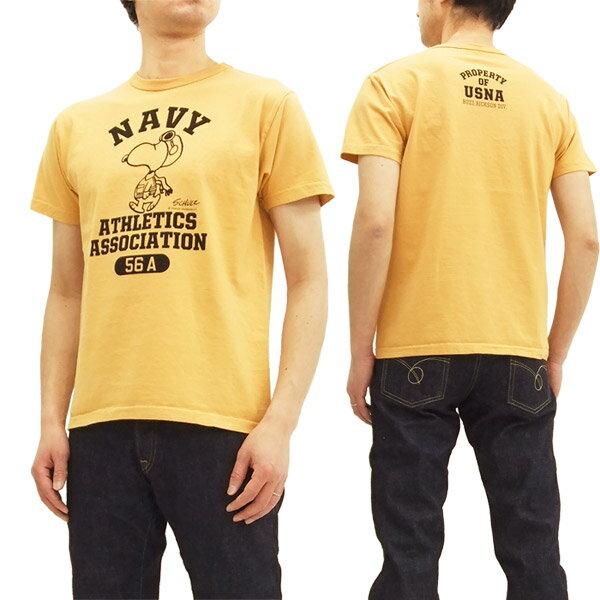 バズリクソンズ BR77845 スヌーピー Tシャツ Buzz Rickson's メンズ 半袖Tee #159オレンジ 新品