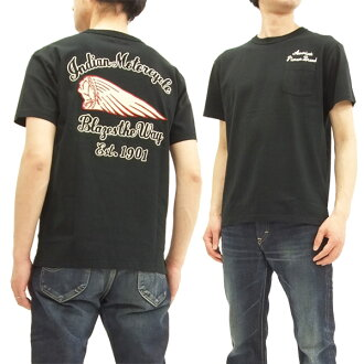 Indian Motorcycle Men's Embroidered T-shirt Short Sleeve Tee IM77917 Black