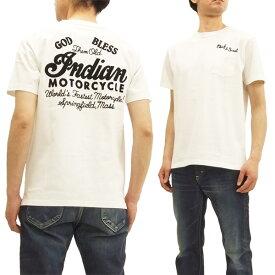 インディアンモーターサイクル IM77918 Tシャツ 刺繍 東洋エンタープライズ メンズ 半袖Tee ホワイト 新品