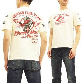 テッドマン Tシャツ TDSS-476 TEDMAN 消防士 エフ商会 メンズ 半袖tee オフ白 新品