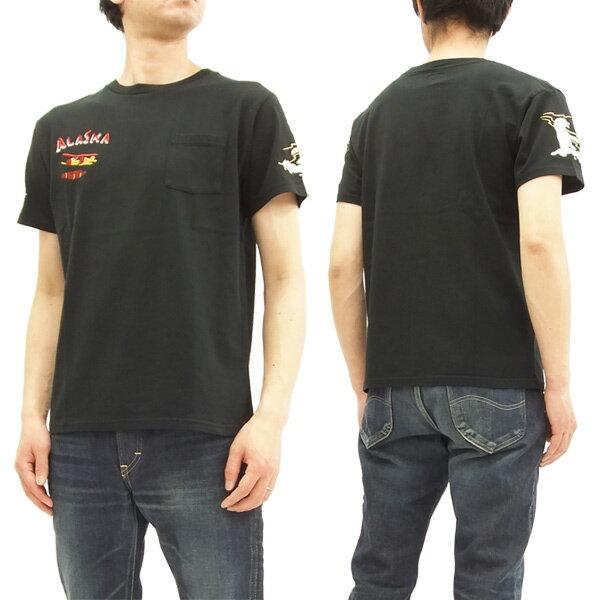 テーラー東洋 Tシャツ TT77921 アラスカ柄 ALASKA 刺繍 スカT メンズ 半袖Tee #119ブラック 新品