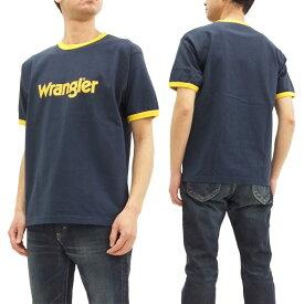 ラングラー Tシャツ WT5026 Wrangler ロゴプリント メンズ リンガー 半袖Tee #104ネイビー 新品