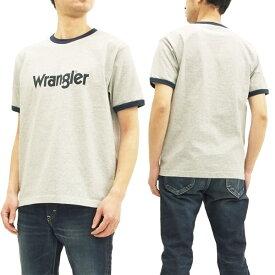 ラングラー Tシャツ WT5026 Wrangler ロゴプリント メンズ リンガー 半袖Tee #102グレー 新品