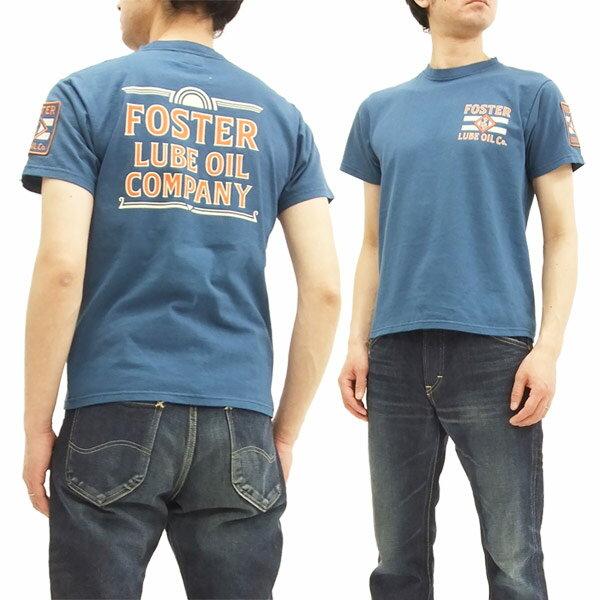 フェローズ 18S-PT12 Tシャツ Pherrow's Pherrows ワッペン付き メンズ 半袖tee S.ブルー 新品