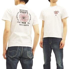 フェローズ 18S-PT13 Tシャツ Pherrow's Pherrows スパイダー 蜘蛛の巣 メンズ 半袖tee ホワイト 新品
