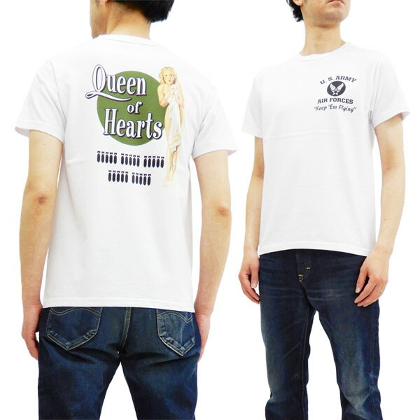 バズリクソンズ BR78023 Tシャツ ピンナップガール Gil Elvgren 東洋 メンズ 半袖tee ホワイト 新品