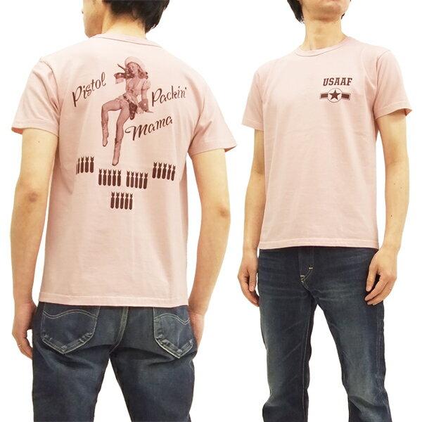 バズリクソンズ BR78024 Tシャツ ピンナップガール Gil Elvgren 東洋 メンズ 半袖tee #162ピンク 新品