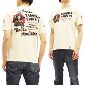 爆烈爛漫娘 RMT-281 Tシャツ Samurai Spirits エフ商会 メンズ 和柄 半袖tee オフ白 新品