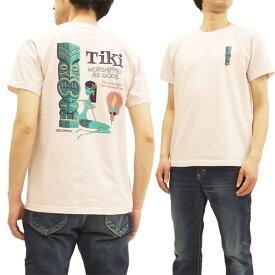 サンサーフ x シャグ SS78032 Tシャツ TIKI by SHAG x 東洋 Sun Surf メンズ 半袖Tee ピンク 新品