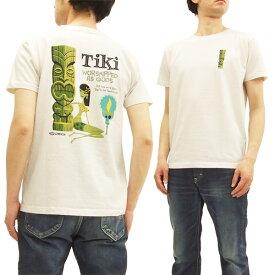 サンサーフ x シャグ SS78032 Tシャツ TIKI by SHAG x 東洋 Sun Surf メンズ 半袖Tee オフ白 新品