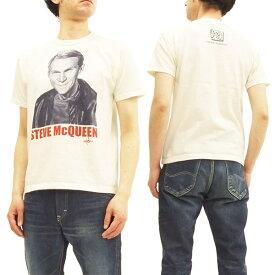 トイズマッコイ Tシャツ TMC1804 スティーブ・マックィーン TOYS McCOY メンズ 半袖Tee オフ白 新品