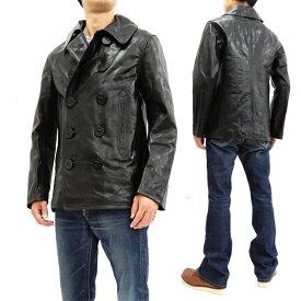 バズリクソンズ BR80525 レザー ピーコート ウィリアム・ギブソン メンズ 本革 Pコート ブラック 新品