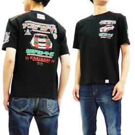 カミナリ Tシャツ KMAGT-200 アゴタンレーシング アゴバンナV3 エフ商会 雷 メンズ 半袖tee ブラック 新品