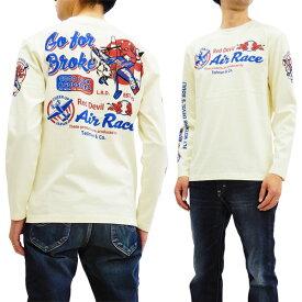 テッドマン TDLS-319 長袖Tシャツ TEDMAN エアレース エフ商会 メンズ ロンtee オフ白 新品