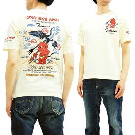 テッドマン Tシャツ TDSS-484 TEDMAN x 鷹 エフ商会 メンズ 半袖tee オフ白 新品