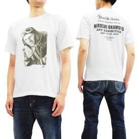 トイズマッコイ TMC1860 Tシャツ TOYS McCOY 岡本博原画展記念 The War Lover メンズ 半袖Tee ホワイト 新品