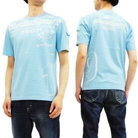テッドマン Tシャツ WEDSTEE-08 カミナリ WedsSport コラボ エフ商会 メンズ 半袖tee サックス 新品