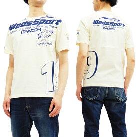 テッドマン Tシャツ WEDSTEE-08 カミナリ WedsSport コラボ エフ商会 メンズ 半袖tee オフ白 新品