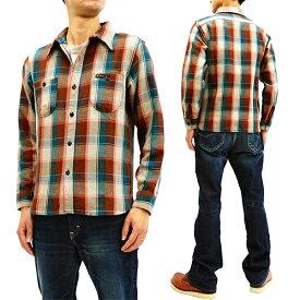 フェローズ 18W-720WS チェック ネルシャツ Pherrow's Pherrows メンズ ワークシャツ 長袖シャツ ベージュ 新品
