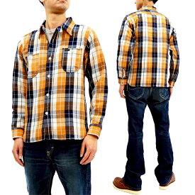フェローズ 18W-720WS チェック ネルシャツ Pherrow's Pherrows メンズ ワークシャツ 長袖シャツ オレンジ 新品