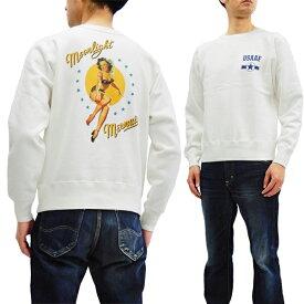 バズリクソンズ BR68091 スウェットシャツ ピンナップガール Gil Elvgren メンズ トレーナー オフ白 新品