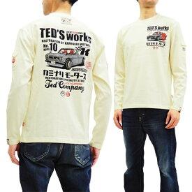 テッドマン カミナリ TDKMLT-80 長袖Tシャツ TEDMAN ハコトラ エフ商会 メンズ ロンtee オフ白 新品