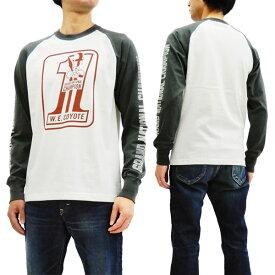 トイズマッコイ TMC1845 長袖Tシャツ ワイリーコヨーテ TOYS McCOY メンズ ロンtee オフ白/黒 新品