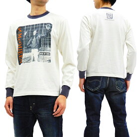 トイズマッコイ 長袖Tシャツ TMC1848 スティーブ・マックイーン TOYS McCOY メンズ ロンtee オフ白 新品