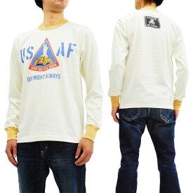 トイズマッコイ TMC1853 長袖Tシャツ TOYS McCOY メンズ 米空軍 ミリタリー ロンtee オフ白 新品