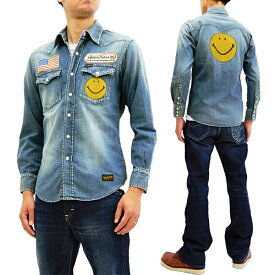 トイズマッコイ TMS1811 スマイル ウエスタンシャツ TOYS McCOY メンズ デニム 長袖シャツ 新品