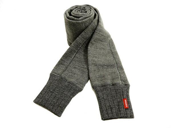 ステュディオ・ダルチザン マフラー 7463 スヴィンゴールドマフラー Studio D'artisan スウェット生地 メンズ スカーフ 杢ブラック 新品