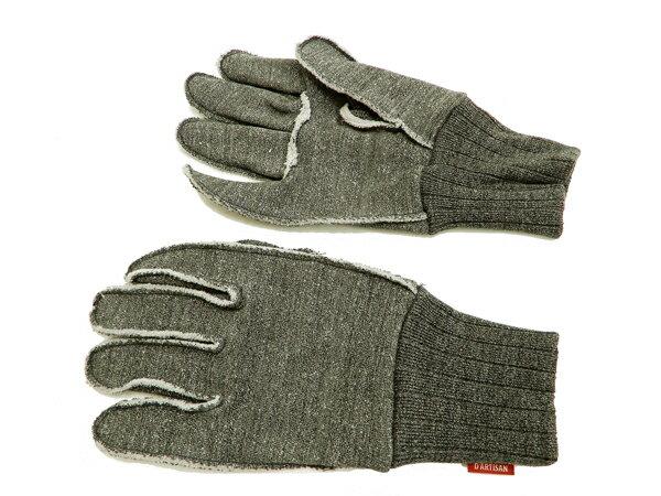 ステュディオ・ダルチザン 手袋 7465 スヴィンゴールド手袋 Studio D'artisan スウェット生地 メンズ グローブ 杢ブラック 新品