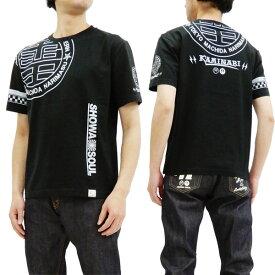 カミナリ Tシャツ KMT-179 SHOWA SOUL 昭和ソウル エフ商会 雷 ロゴ メンズ 半袖tee ブラック 新品