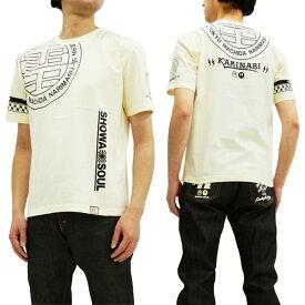 カミナリ Tシャツ KMT-179 SHOWA SOUL 昭和ソウル エフ商会 雷 ロゴ メンズ 半袖tee オフ白 新品