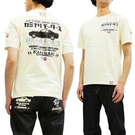 カミナリ Tシャツ KMT-181 ダルマセリカ 昭和 旧車柄 エフ商会 雷 メンズ 半袖tee オフ白 新品