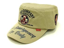 テッドマン ワークキャップ TDCW-300 TEDMAN 米国軍医学部 エフ商会 メンズ 帽子 ベージュ 新品