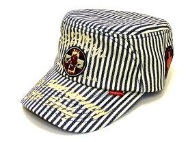 テッドマン ワークキャップ TDCW-300 TEDMAN 米国軍医学部 エフ商会 メンズ 帽子 ヒッコリー 新品